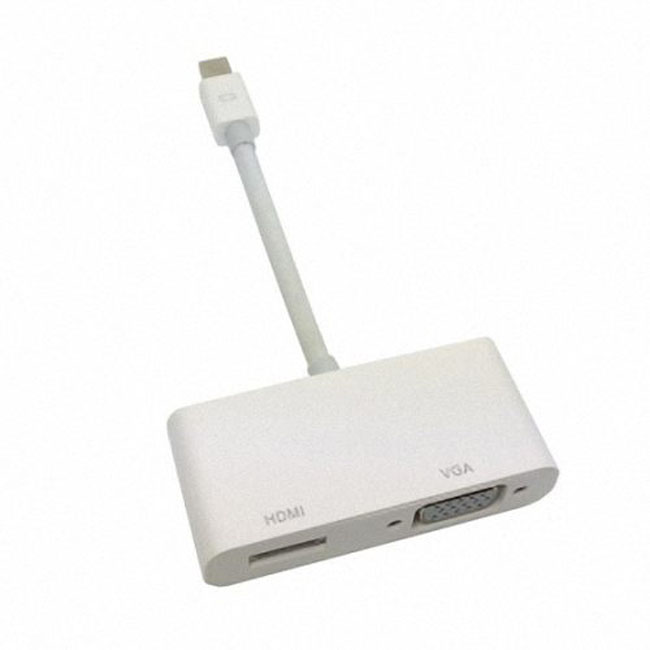 Mini DisplayPort Thunderbolt to VGA & HDMI Adapter cable 2 in1 for Apple MacBook & Air & Pro & iMac