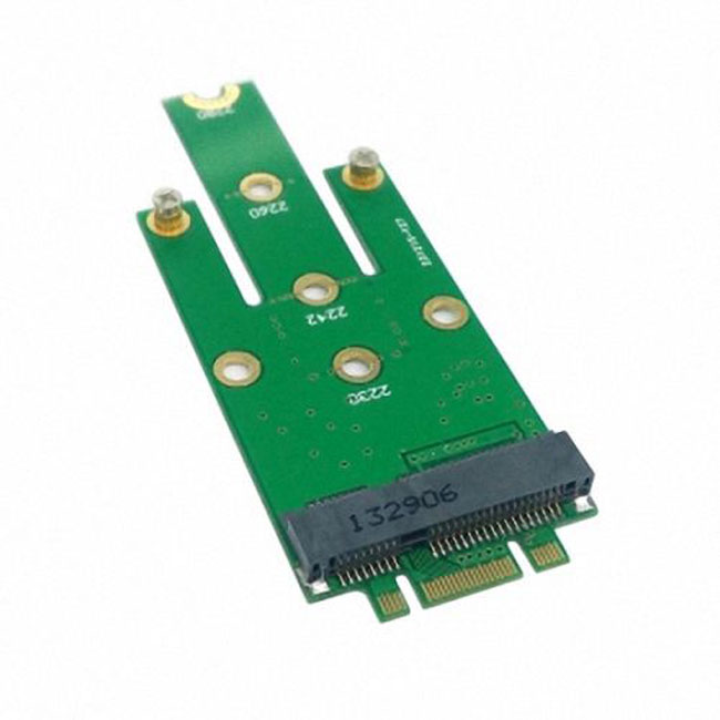 M.2 NGFF PCI-E 2 LANE Golden Finger Pin to 50mm Mini-PCIE mSATA 18+8 SSD Hard Disk PCBA