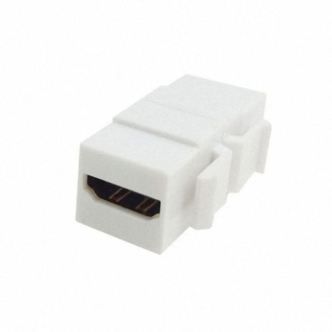 HDMI 1.4 Snap-in Female to Female F/F Keystone Jack Coupler Adapter for Wall Plate White