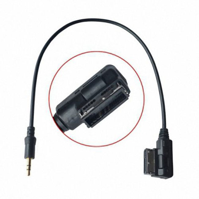Media In AMI MDI to Stereo 3.5mm Audio Aux Adapter Cable For Car VW AUDI 2014 A4 A6 Q5 Q7 & iPhone5 iPad Mini