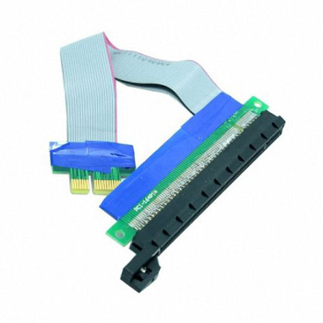 PCI-E Express 1x to 16x Extension Flex Cable Extender Converter Riser Card Adapter 20cm