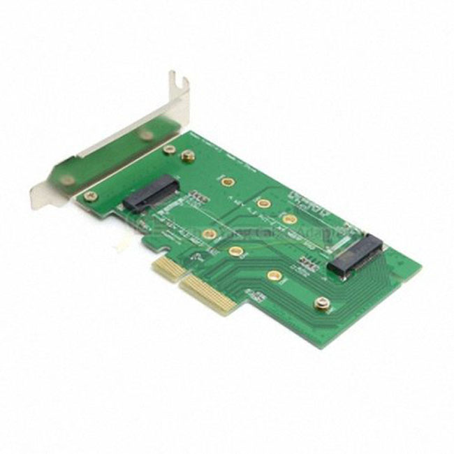 M.2 NGFF PCIe 4 LANE SSD to PCIE 3.0 x4 & NGFF to SATA Adapter for Samsung xp941 LITE-ON IT M6E With Low Profile Bracket