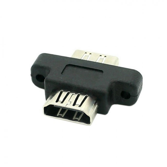 HDMI Female To HDMI 1.4 Female Extension Extender Coupler Adapter with Panel Mount Holes