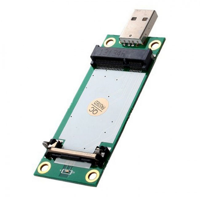 Mini PCI-E Wireless WWAN to USB Adapter Card with SIM Card Slot Module Testing Tools