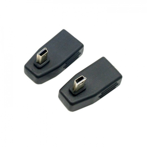 2pcs 90 Degree Left & Right Angled Mini USB Type B to USB Female OTG Adapter for Tablet & Cell Phone