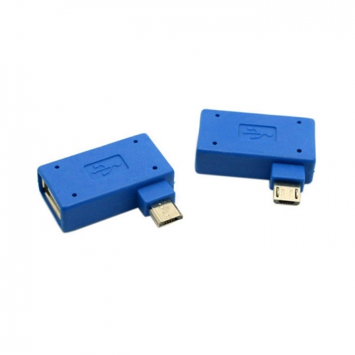 2pcs Left & Right Angled 90 Degree Micro USB OTG Flash Disk Adapter Charge Phone At Same Time for Galaxy Note3 S3 S4