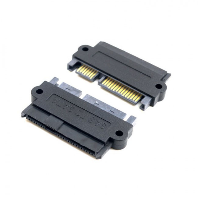 SFF-8482 SAS 22 Pin to 7 Pin + 15 Pin SATA Hard Disk Drive Raid Adapter with 15 Pin Power Port