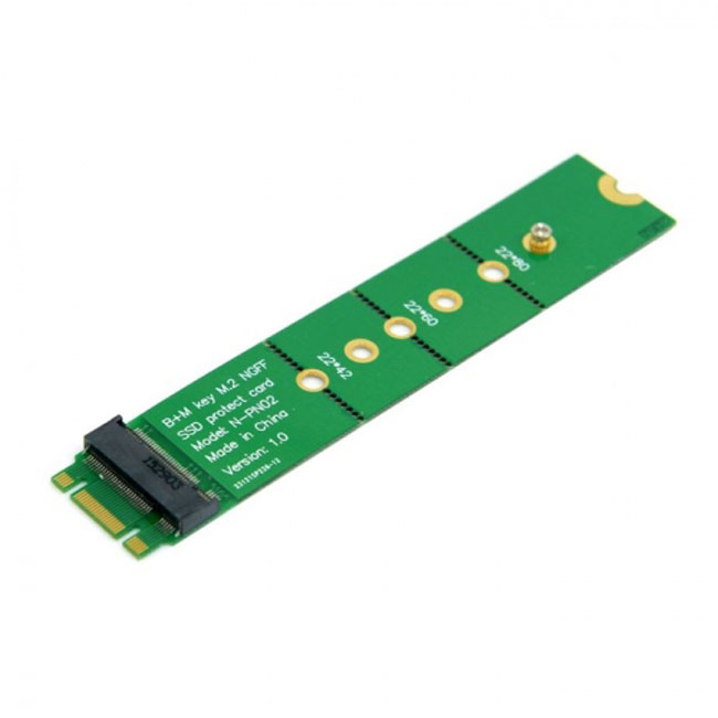 PCI-E 2 Lane M.2 B+M key NGFF 42mm 60mm 80mm SSD Male to Female Extension Adapter Add on Cards PCBA