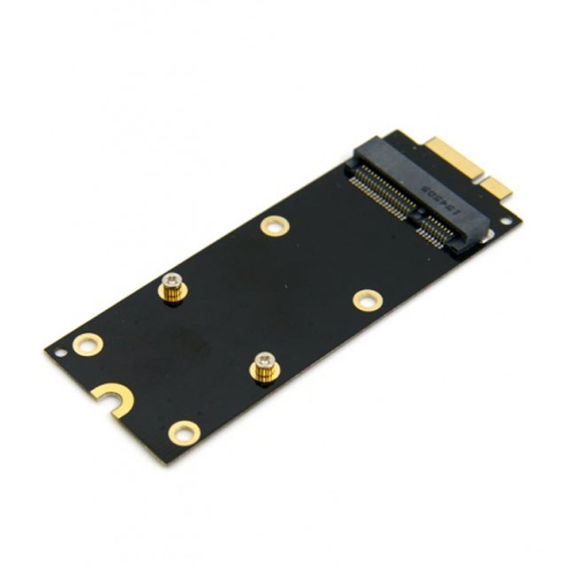 mSATA SSD to 2012 Macbook Pro Retina iMac A1398 MC975 MC976 17+7pin SSD Convertor Card Adapter