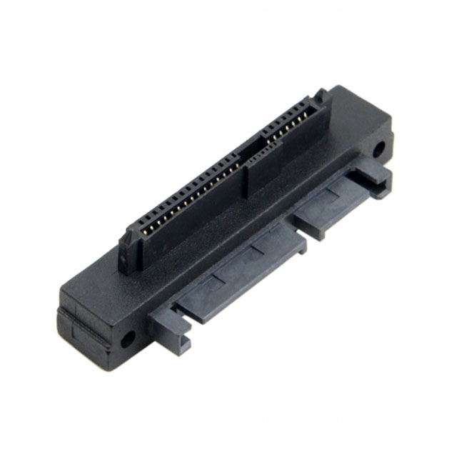 Right Angled 90 Degree SFF-8482 SAS 22 Pin to 7 Pin + 15 Pin SATA Hard Disk Drive Raid Adapter