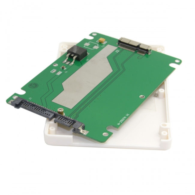 "2.5"" SATA 22pin to Macbook A1425 A1398 MC975 MC976 MD212 MD213 ME662 ME664 ME665 SSD hard disk case Enclosure White"