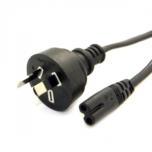 Australian Australia AU plug power supply Cable 2-prong 2 Outlets Cord IEC320 C7 for Laptop Notebook Tablet