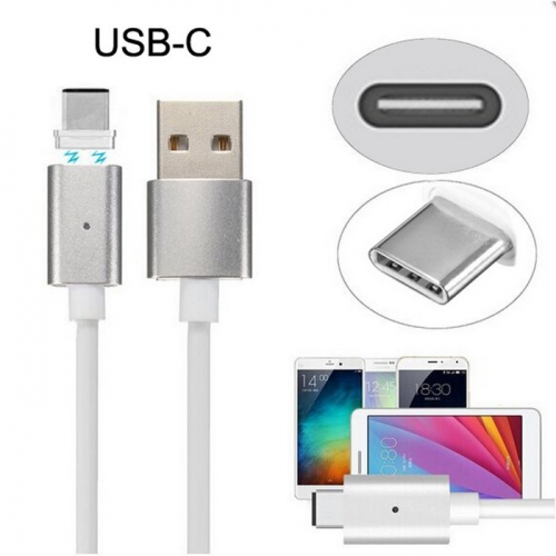 USB-C Type-C to USB Male Magnetic Charging Cable for Cell Phone & Tablet Reversible Design