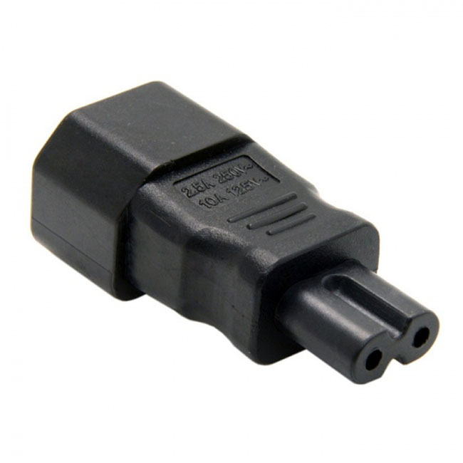 Standard Molded IEC 320 C14 Socket to IEC C7 Plug AC Power Adapter Set UL Approved