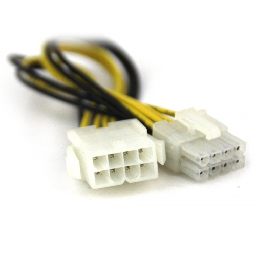 White color 8 p ATX 12V CPU EPS P4 Power Extension Cable 20cm