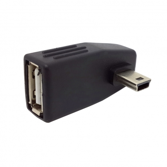 Mini USB B 5Pin Male to USB2.0 A Female Angled 90degree OTG Host adapter