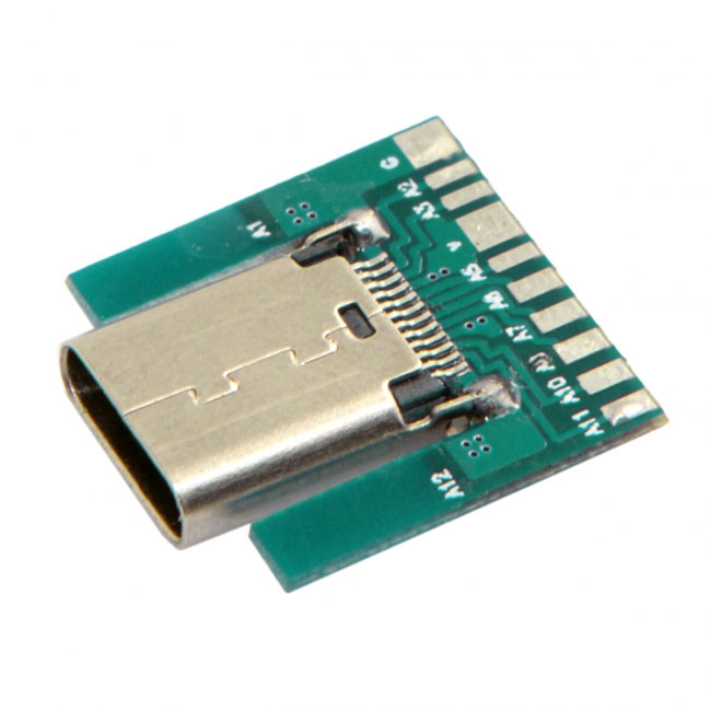 DIY 24pin USB 3.1 Type C Female Socket Connector SMT type with PC Board