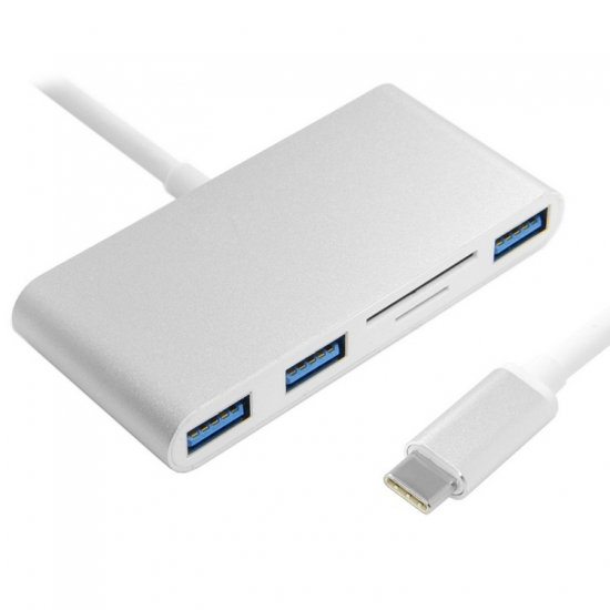 USB 3.1 Type C USB-C to Multiple 3 Port Hub & TF SD Card Reader Writer for Laptop Macbook
