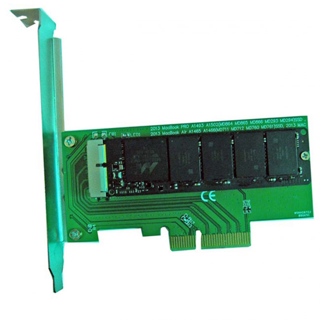 PCI Express PCI-E to 2013 2014 2015 Apple Macbook Pro Air SSD Convert Card for A1493 A1502 A1465 A1466