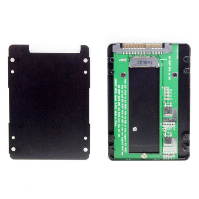SFF-8639 NVME U.2 to NGFF M.2 M-key PCIe SSD Case Enclosure for Mainboard Replace Intel SSD 750 p3600 p3700