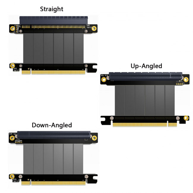 PCI-E Gen3.0 16x To 16x Riser Cable 10cm 20cm 50cm PCI-Express PCI-E X16 Extender Right Angled Elbow Design