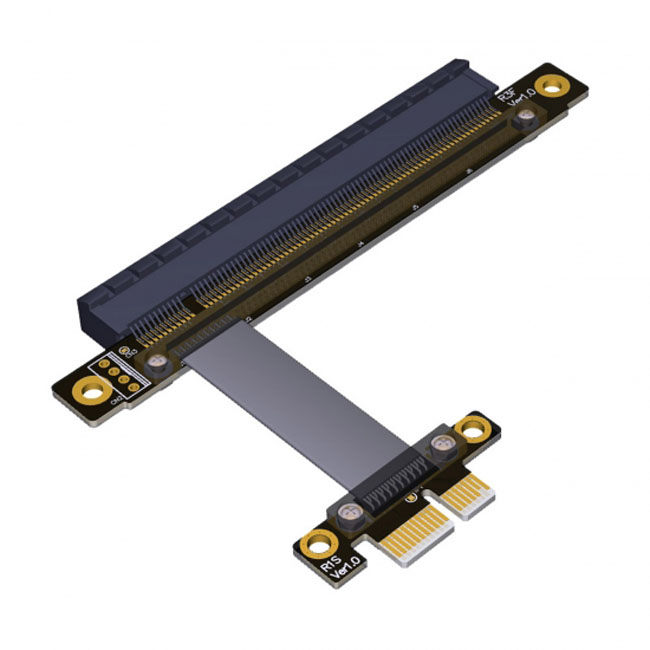 PCI-E Gen3.0 1x To 16x Riser Cable 30cm 40cm 50cm 60cm PCI-Express PCI-E X16 Extender Right Angled Elbow Design