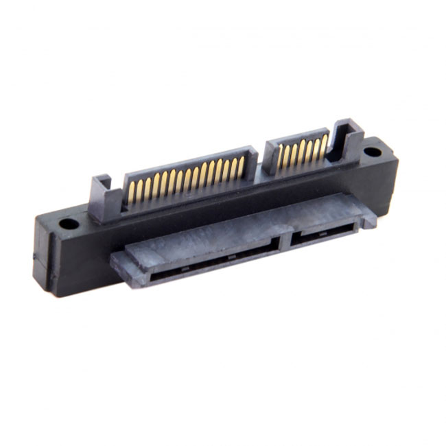 90 Degree Up Angled SATA 22Pin 7+15 Male to SATA 22Pin Female Extension Convertor Adapter