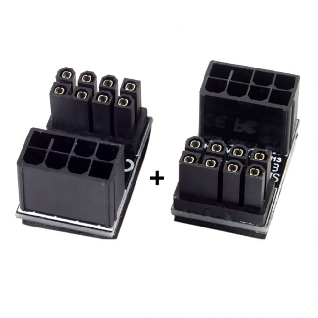ATX 8Pin Female to 8pin Male 180 Degree AngledPower Adapter for Desktops Graphics Card