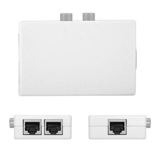 UTP STP 2 in 1 out 2 Ports RJ45 LAN CAT Network Switch Selector Internal External Networking Switcher Splitter Box