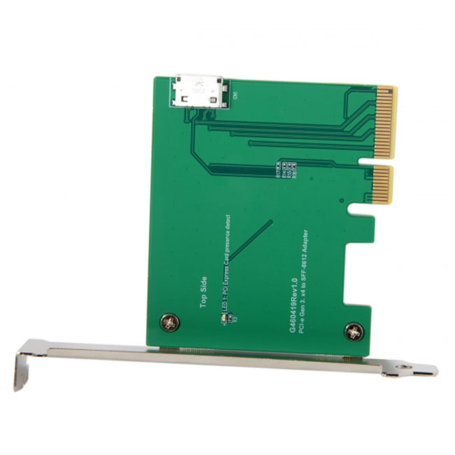 PCI-E 3.0 x4 to Oculink SFF-8612 SFF-8611 Host Adapter for PCIe SSD with Low Profile Bracket