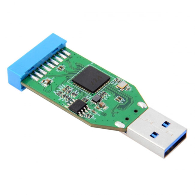 Single Port USB 3.0 A Type Male to Motherboard 20pin Header Female Hub Adapter