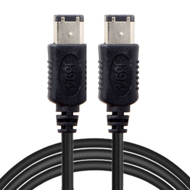 6 PIN / 6PIN FireWire 400 - FireWire 400 6-6 ilink Cable IEEE 1394 1.8m Black FW-016