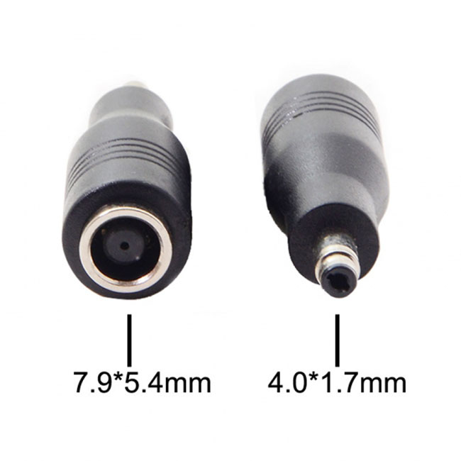 DC 7.9*5.4mm Jack to DC 4.0*1.7mm Power Adapter For Lenovo New Laptop