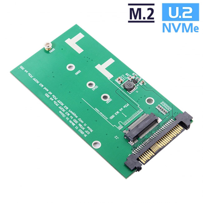 SFF-8639 NVME U.2 to NGFF M.2 M-key PCIe SSD Adapter for Mainboard Replace Intel SSD 750 p3600 p3700