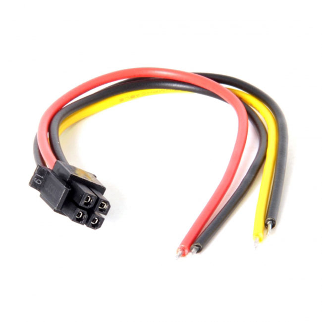 ATX Molex Micro Fit Pitch 3.0mm 4Pin Male to Open Wire Power Adapter Cable 15cm 20AWG UL1007