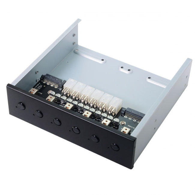 6 Hard Disk Control System Intelligent Control Management System HDD SSD Power Switch with 5.25 CD-ROM Bay