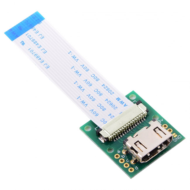 Raspberry PI Camera Module to HDMI Type A Male HDTV FPC Flat Cable 5cm fit for PES001
