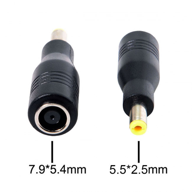DC 7.9*5.4mm Jack to DC 5.5*2.5mm DC18-20V Power Adapter For Laptop