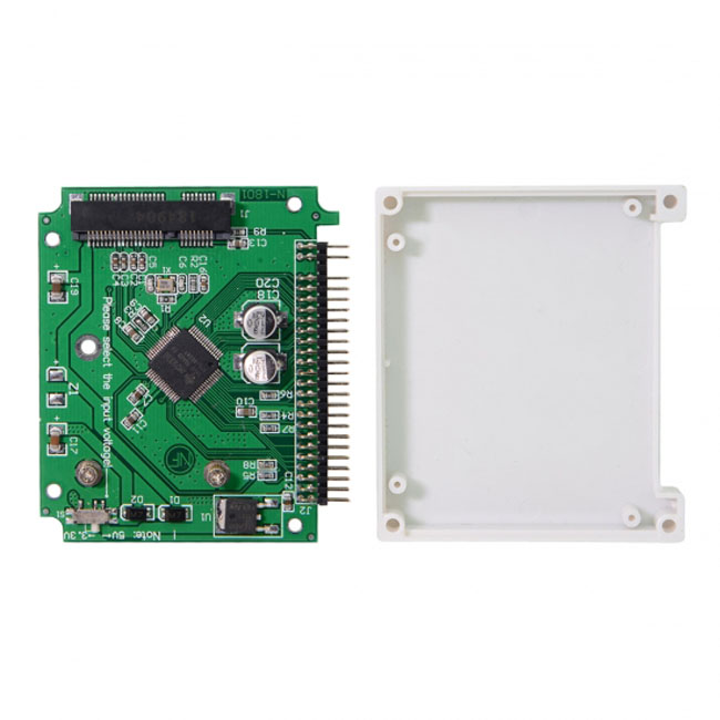 Low Profile Half-Heigh mSATA  SSD to 2.5 inch IDE 44pin Hard Disk Case Enclosure for Notebook Laptop