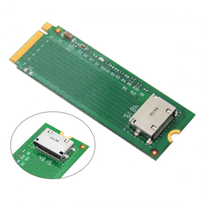 PCI-E 3.0 M.2 M-key to Oculink SFF-8612 SFF-8611 Host Adapter for PCIe Nvme SSD 2260