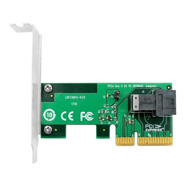 PCI-E 4X to U.2 U2 Kit SFF-8639 NVME PCIe SSD Adapter for Mainboard SSD 750 p3600 p3700 M.2 SFF-8643