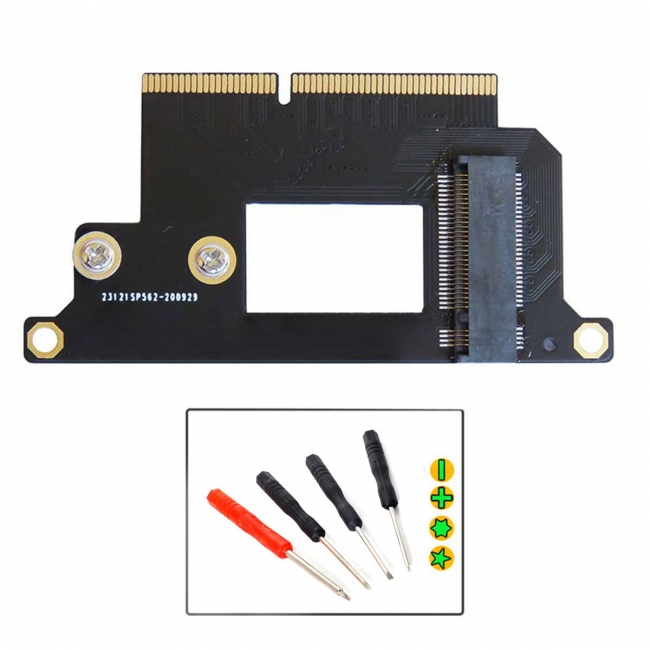 M.2 NGFF M-Key NVME SSD Convert Card fit for Macbook Pro  2016 2017 13
