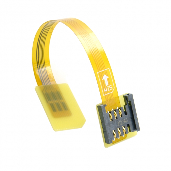 GSM CDMA Standard UIM SIM Card Kit Male to Female Extension Soft Flat FPC Cable Extender 10cm