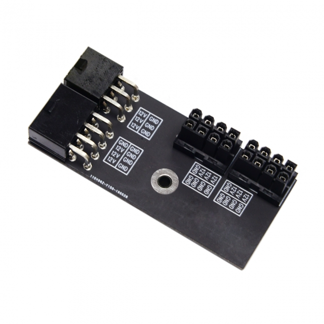 Dual ATX 8Pin Female to 6+8pin Male 180 Degree Angled Power Adapter for NVIDIA 3080 3090 Graphics Card GPU