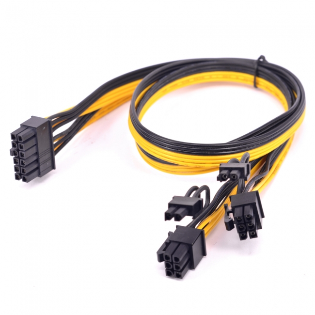 12Pin to ATX Dual 8Pin & 6Pin Splitter GPU Graphics Card Modular Power Supply Cable for 3080 3090 AX850 AX750 AX650