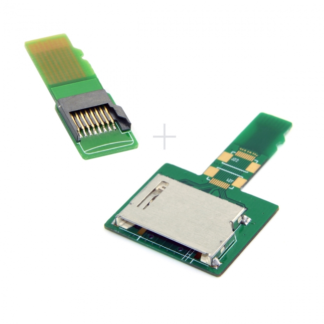 1Set SD TF Card Socket Female to Micro-SD TF Male Memory Card Kit Extension Adapter Testing Tools Extender