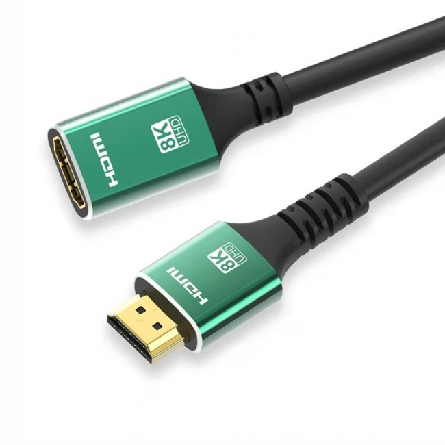 HDMI 2.1 Extension Cable Male to Female Ultra-HD UHD 8K 60hz 4K 120hz Cable 48Gbs with Audio & Ethernet HDMI Cord