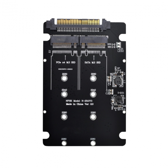 SFF-8639 NVME U.2 to Combo NGFF M.2 M-key SATA PCIe SSD Adapter for Mainboard Replace SSD 750 p3600 p3700
