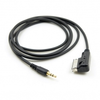 Media In AMI MDI to Stereo 3.5mm Audio Aux Adapter Cable For Car Mercedes Benz & iPhone & Cell Phone