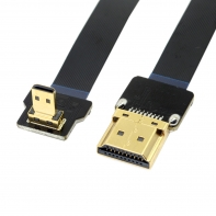 CYFPV 90 Degree Down Angled FPV Micro HDMI Male to HDMI Male FPC Flat Cable 50cm for FPV HDTV Multicopter Aerial Photography